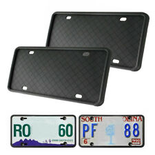 2X Silicone Car License Plate Frame Rust-Proof Rubber Holder+Installation Screw-