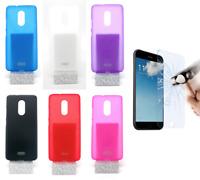 """Cover Custodia Gel Silicone Per Alcatel 3C (3G) 6"""" + Protezione Opzionale"""