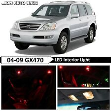 Red Interior LED Light Bulb Replacement Package Kit Fits Lexus GX470 2003-2009