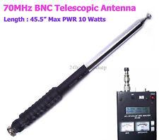 Ham Amateur Radio 4 Meter Band 70MHz QRP Portable VHF BNC Telescopic Antenna