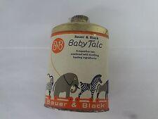 BAUER & BLACK BRAND  BABY TALC TALCUM POWDER TIN VINTAGE ADVERTISING TIN  S-723