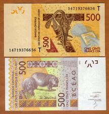 West African States, Togo, 500 francs, 2012 (2014), P-819Tc, UNC > Hippo