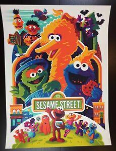 """SESAME STREET"" WHALEN SIGNED LIM EDN COOKIE MONSTER ELMO BIG BIRD PRINT!! $125"