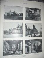 Printed photos Friedrichshof Castle Cronsberg of late Empress Frederick 1901