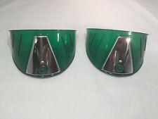 Pair Green Headlight Visors (Plastic, Fits 7'' Headlamps)