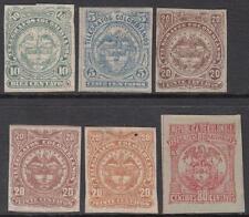 Kolumbien Telegraph Briefmarken 6 Diff Postfrisch Briefmarken Barfuß CV $30
