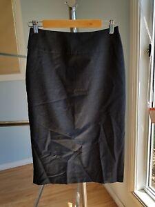 CUE dark grey pencil skirt size 8 excellent condition