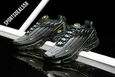 NIKE AIR MAX PLUS III 3, UK 8.5 EU 43 US 9.5  DOUBLE BLACK/WOLF GREY, CJ9684 002