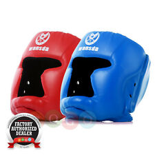 Boxing Helmet Closed Type Head Guard Protection Set of 2pc Red & Blue Free Size