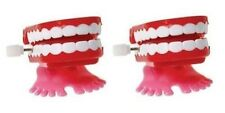 Novelty 2 Count Chattering Chomping Wind Up Toy Walking Teeth Dentures