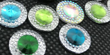 10 x Sew On  Grade A Round GEM Crystal Rhinestone 14mm x14mm (12 Colours )#2