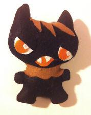 Monster Katinka Katze Kuschel schwarz Cat Spielzeug Puppe Kind Geschenk Deko