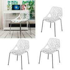 4 PCS Modern Style Dining Side Chair  White Living Room/Kitchen Lounge Chairs