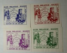 Elgin Philatelic Society Exhibit Fox Hotel 1936 Time Piece Souvenir Ad Label
