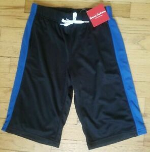NWT HANNA ANDERSSON PLAY ACTIVE UV MESH SHORTS BLACK BLUE 110 5 130 8
