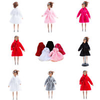 Handmade Fashion Winter Warm Overcoat Plush Fur Coat Clothes for Barbie Doll UK