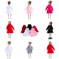Handmade Fashion Winter Warm Overcoat Plush Fur Coat Clothes for Barbie Doll UK