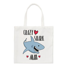 Crazy Shark Man Regular Tote Bag Funny Shopper Shoulder Animal
