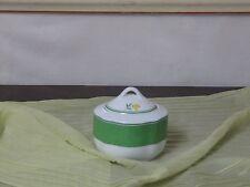 Zuckerdose Zuckertopf  TCM Tchibo zum  Blumendekor grün-gelb Spülmaschinenfest