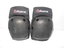 Razor Brand Size Youth Knee Pads Safety Gear Black, Pre-owned