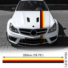 Germany Flag Color Stripe Decal Sticker W204 W205 W212 W176 W117 C E A CLA Class
