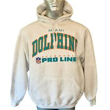 Russell Athletic Vintage Miami Dolphins Hoodie  Mens  XL Extra Large  Grey USA