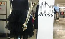 SJP by Sarah Jessica Parker Womens Black Mesh Inset Cocktail Dress LBD US 0 AU 6