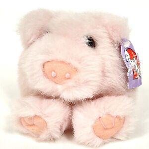 Vintage Puffkins Swibco Percy The Pink Pig Piggy Mini Ball Plush Stuffed Animal
