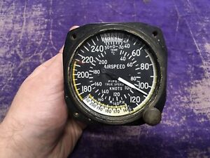 Vintage 1967 Aeromarine Instrument Co 541 AS-391A Piper Airspeed Indicator