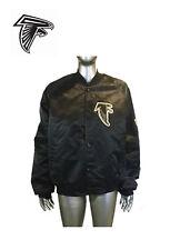 Vintage FALCONS Starter NFL Black Satin Bomber Jacket Size L, Large