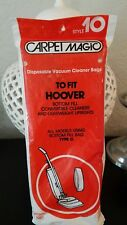 """Hoover Type """"C"""" Vacuum Vac Bags Style 10 Made In Usa 4 Pack Nip New"""