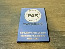 Percussive Arts Society (PAS) Research Publications 1963-1987