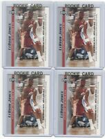 x4 LEBRON JAMES 2003-04 Upper Deck Rookie Card lot/set Mint! Gold Top Loaders #9