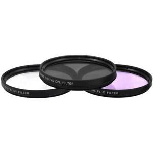 72mm 3 Piece Multi-Coated HD Digital Lens Glass Protector Filter Kit UV CPL FLD