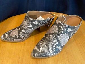 Universal Thread Makana Faux Leather Snake Print Heeled Mule Women - Choose Size