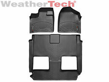 WeatherTech FloorLiner - Dodge Grand Caravan stow & go seats - 2011-2016 -Black