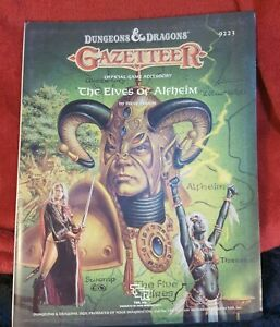 Dungeons & Dragons TSR - The Elves of Alfheim 1988 - 9223 - VGC Roll Playing