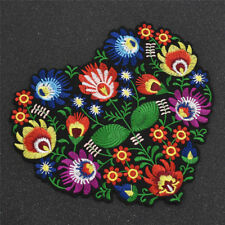 Heart Flower Patch Embroidery Sew on Applique Retro Charms Gift DIY on Hat Jeans