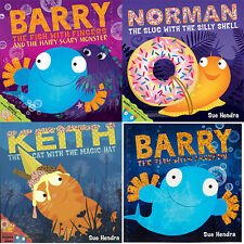 Sue Hendra Collection 4 Books Set,Barry The Fish With Fingers and The Hairy Scar