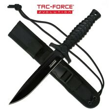 """TAC-FORCE EVOLUTION 11"""" 8CR13 CLIP POINT FULL TANG FIXED BLADE + TACTICAL SHEATH"""