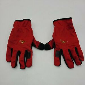 Vgo Synthetic Leather Gardening Gloves Outdoor Work Gloves Red (NB7581) Size XL