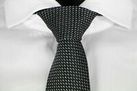 HUGO BOSS TAILORED KRAWATTE, 100% Seide, Hand Made in Italy, Black