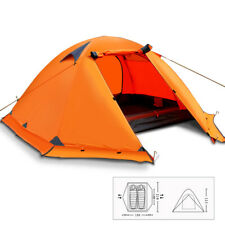 Outdoor Camping Tent Double Layer 2 Person 4 Season Wind Snow Hiking Shelter