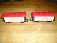 HO TRAIN LOT UNKNOW. 2 FLORIDA TANGERINE FREIGHT CARS