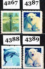 Wildlife Definitives Complete MNH Set of 4 Stamps Scott's 4267 4387 4388 & 4389