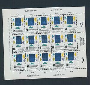 XC59670 Finland 1992 technology good sheet MNH