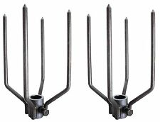 OneGrill Stainless Steel Rotisserie Forks Large Animal 7LF-750-4AS
