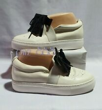 LANVIN Leather Slip-On Sneakers Size 24cm