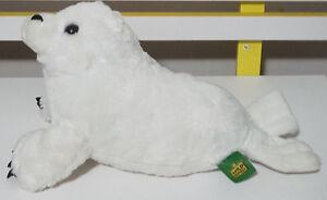 WILD REPUBLIC WHITE SEAL PLUSH TOY! SOFT TOY ABOUT 36CM LONG KIDS TOY!