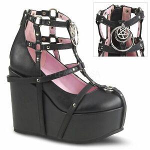 POISON-25-1  Black Vegan Leather